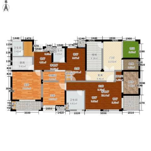 景瑞理想之光2室2厅3卫2厨184.76㎡户型图