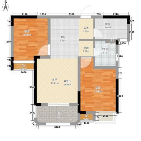 联投国际城2室1厅1卫1厨93.00㎡户型图