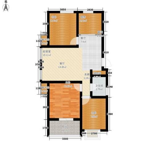 东方太阳城3室0厅1卫1厨79.58㎡户型图