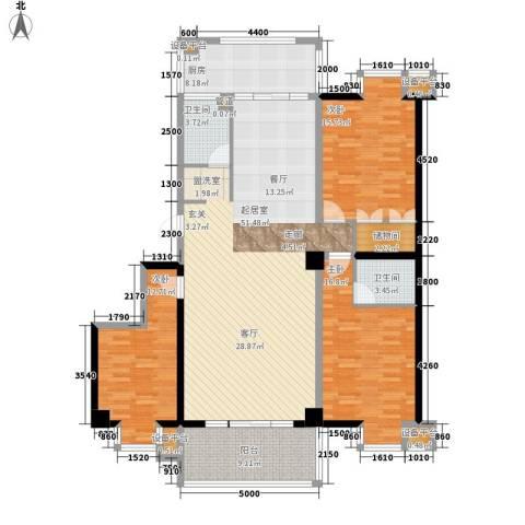 御笔华府3室0厅2卫1厨140.00㎡户型图