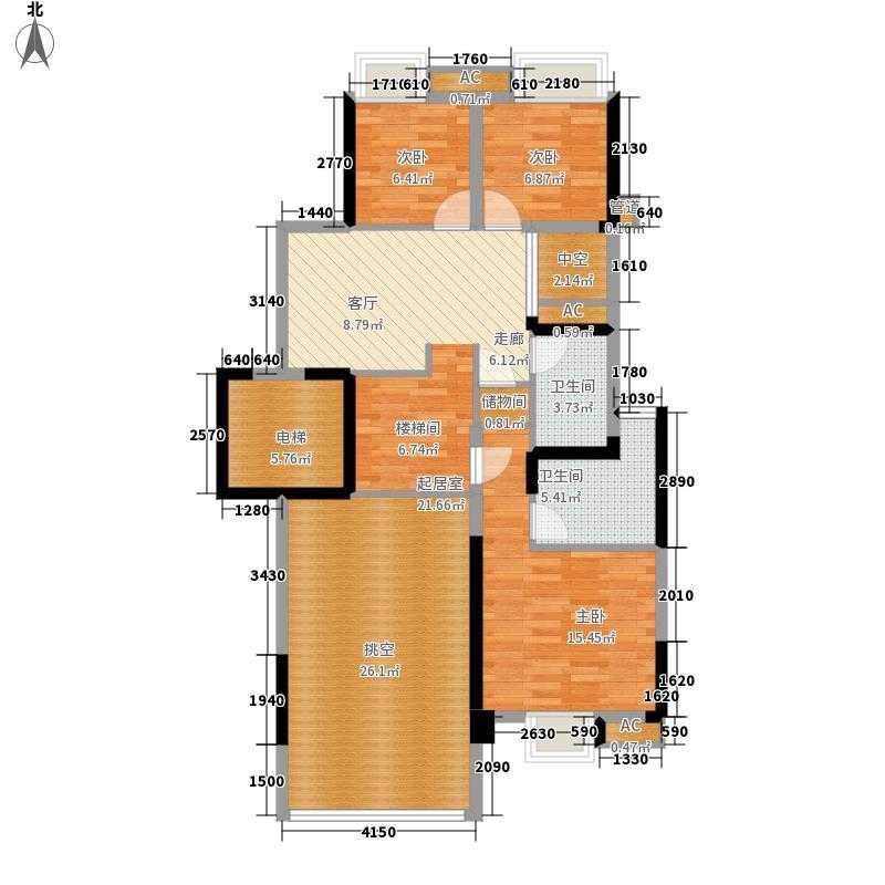 岭南新世界217.00㎡云意D-A1复式上层户型5室3厅