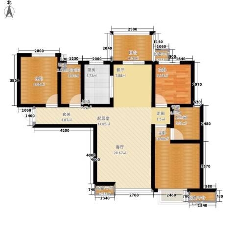 东方太阳城3室0厅2卫1厨94.71㎡户型图