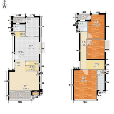 中信泰富朱家角新城3室1厅3卫1厨177.00㎡户型图
