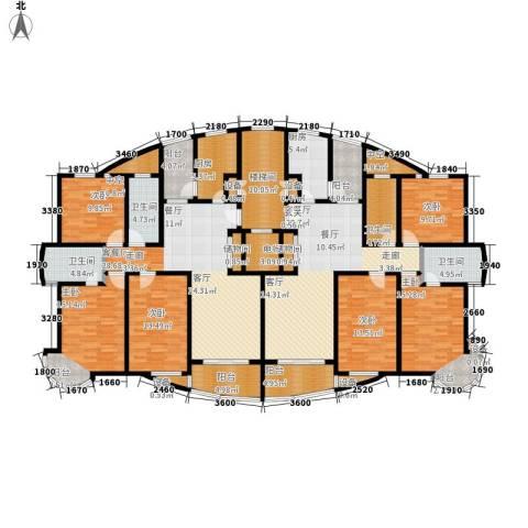 吴淞新城6室2厅4卫2厨203.12㎡户型图