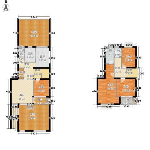 中信泰富朱家角新城4室1厅3卫1厨194.00㎡户型图