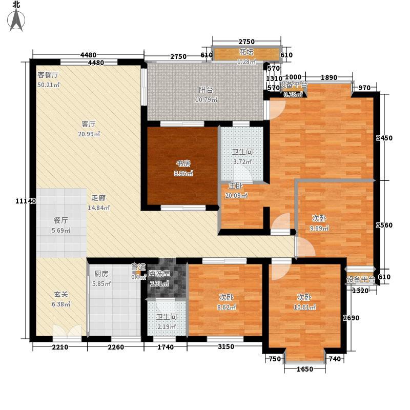 天骄豪园156.15㎡Q标准层面积15615m户型