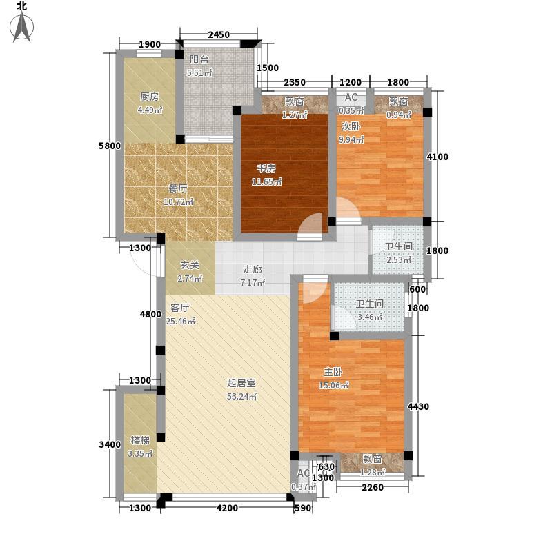 永意山语城A8户型:(一层)4房2厅3卫户型