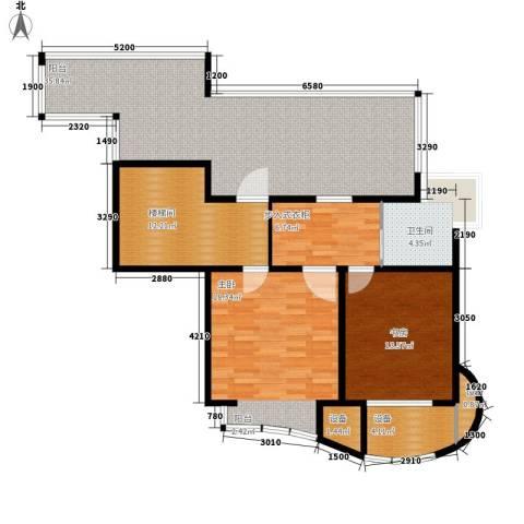 爱家星河国际2室0厅1卫0厨200.00㎡户型图