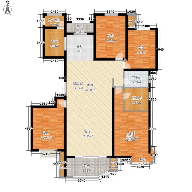 绿地世纪城塞纳公馆203.20㎡6#楼A1户型4室2厅