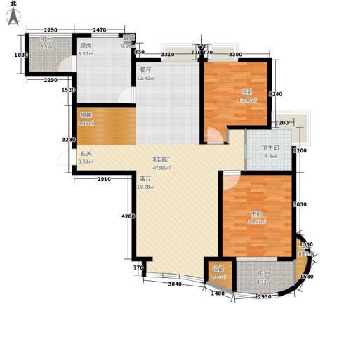 爱家星河国际2室1厅1卫1厨200.00㎡户型图