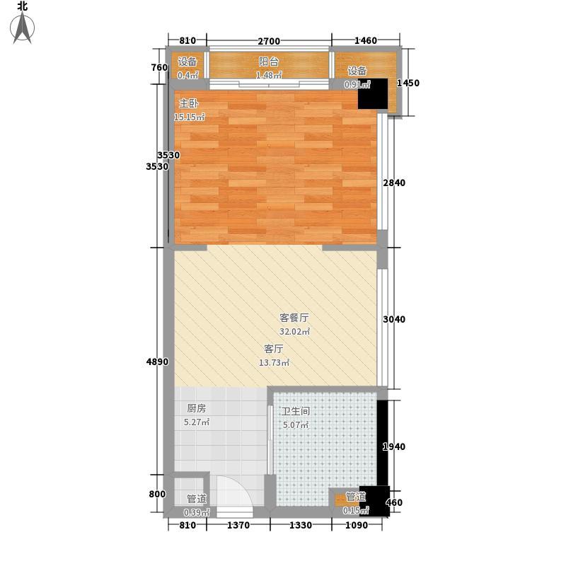 壹品E·Park40.00㎡国际商务公寓C/D栋A2户型1室1厅