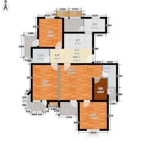 毕加索小镇4室1厅2卫1厨150.00㎡户型图