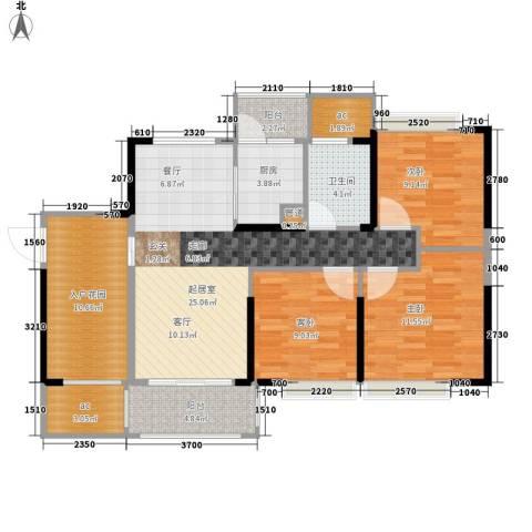 德洲城3室0厅1卫1厨98.00㎡户型图