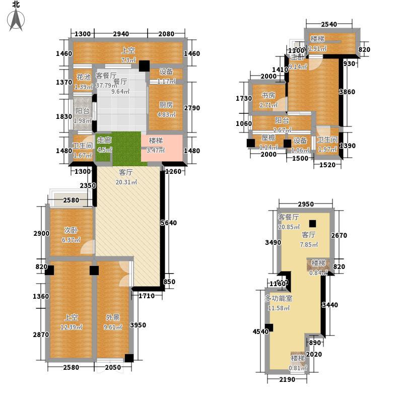 武汉锦绣香江二期152.36㎡武汉锦绣香江棕榈岛B-03户型2室2厅
