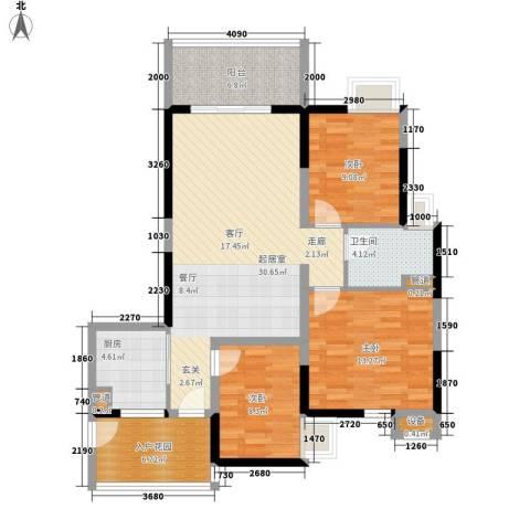 富力金禧花园3室0厅1卫1厨97.00㎡户型图