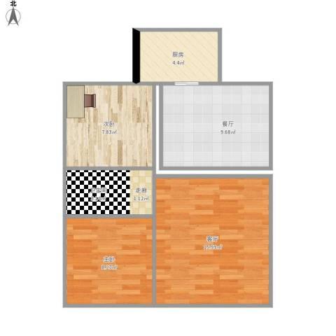 三鹏广场2室2厅1卫1厨68.00㎡户型图