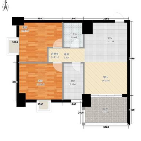 御笔华府2室0厅1卫1厨83.00㎡户型图