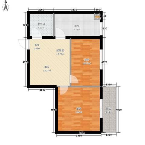 海威・财富广场2室0厅1卫1厨65.00㎡户型图