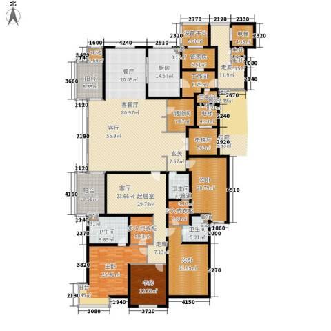 大华清水湾花园三期华府樟园4室1厅4卫1厨360.00㎡户型图