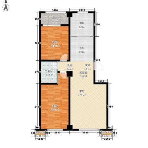 上洋国际2室0厅1卫1厨100.00㎡户型图