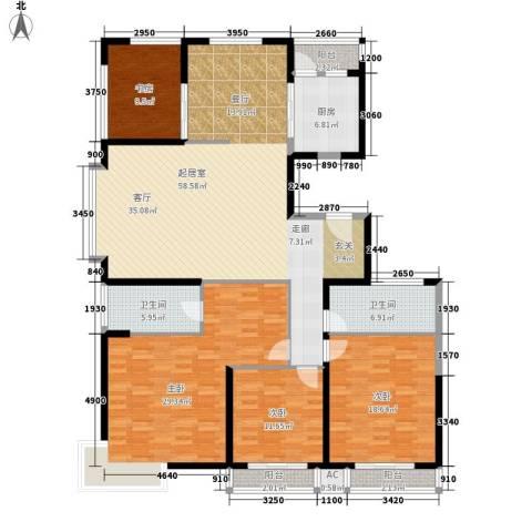 鼎正中央领郡4室0厅2卫1厨174.00㎡户型图