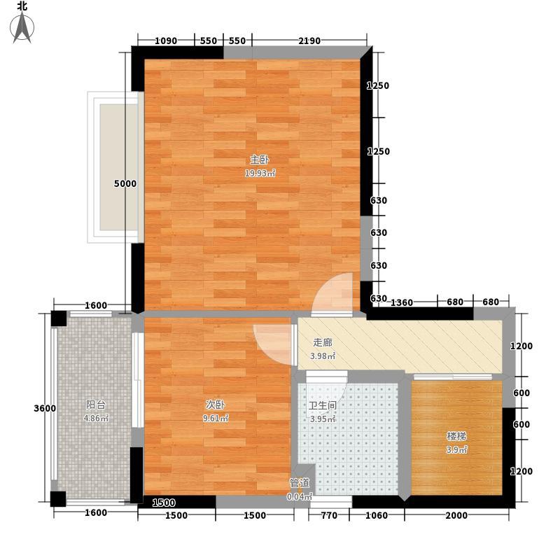 公园豪宅·靠山128.22㎡8栋2单元02二层平面图户型2室2厅