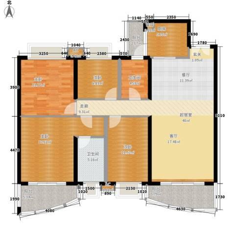 东逸翠苑4室0厅2卫1厨135.30㎡户型图