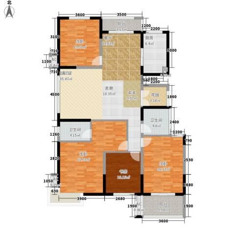 鼎正中央领郡4室0厅2卫1厨172.00㎡户型图