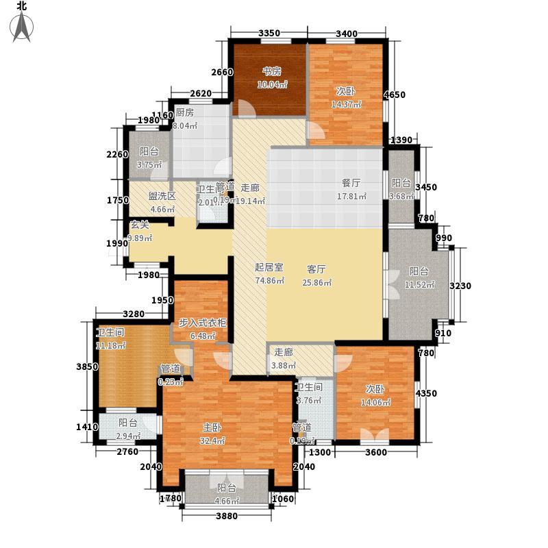翡翠城245.00㎡法式公寓J户型4室2厅