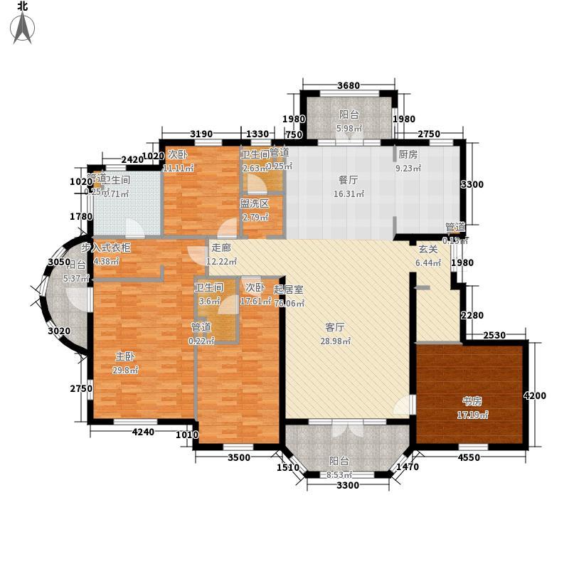 翡翠城230.00㎡法式公寓I户型4室2厅