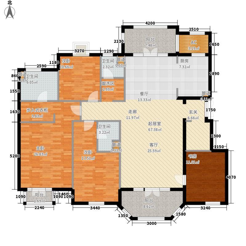 翡翠城200.00㎡法式公寓H户型4室2厅