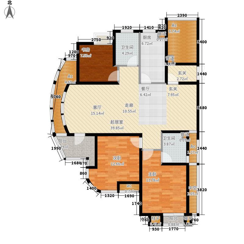翡翠城梅苑B1B22、4、5号楼户型3室2厅