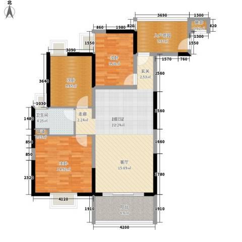 富力金禧花园3室0厅1卫0厨98.00㎡户型图
