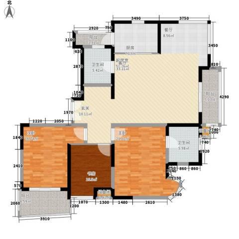 新时代富嘉花园3室0厅2卫1厨151.81㎡户型图