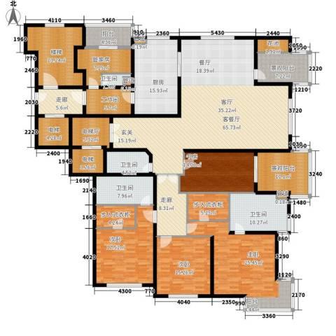 大华清水湾花园三期华府樟园4室1厅4卫1厨301.00㎡户型图
