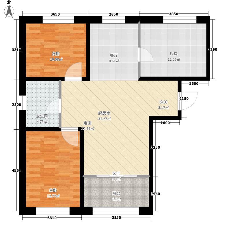CBD瑞城C户型2室2厅