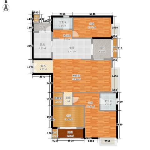 中海瀛台3室0厅2卫1厨150.00㎡户型图