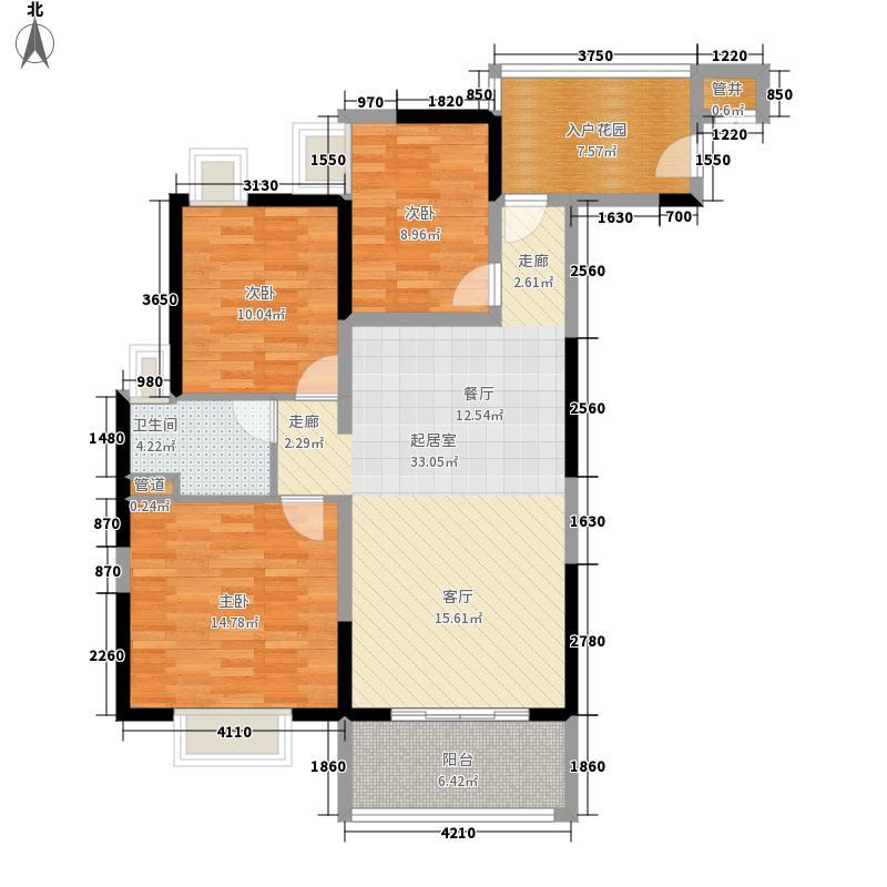 富力金禧花园98.00㎡A2栋6-222面积9800m户型