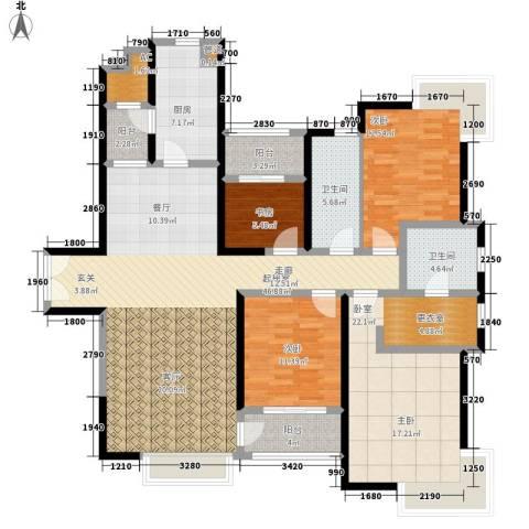 中海瀛台3室0厅2卫1厨149.00㎡户型图