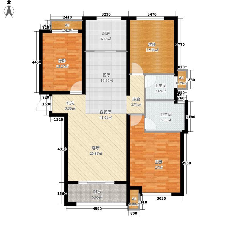 科达·天意华苑122.00㎡高层B1岚山峰境户型3室2厅
