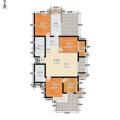 上洋国际3室0厅2卫1厨140.00㎡户型图