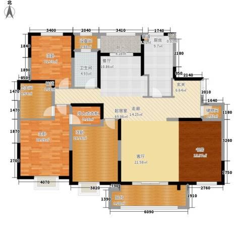 中星馨恒苑3室0厅2卫1厨177.00㎡户型图