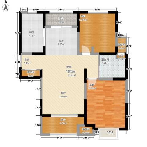 中星馨恒苑2室0厅1卫1厨98.00㎡户型图