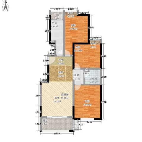 鼎正中央领郡3室0厅1卫1厨123.00㎡户型图