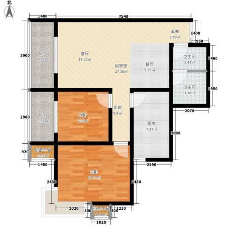 上洋国际2室0厅2卫1厨116.00㎡户型图