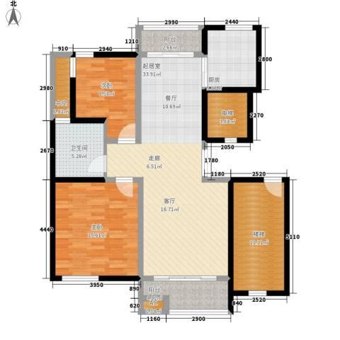 中坚豪庭2室0厅1卫1厨135.00㎡户型图