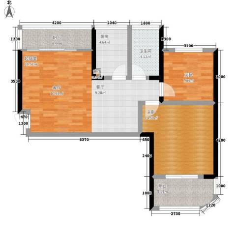 融圣国际2室0厅1卫1厨84.00㎡户型图
