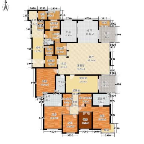 大华清水湾花园三期华府樟园5室1厅4卫1厨430.00㎡户型图