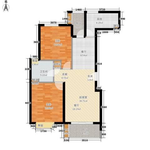 天鹅泉公寓2室0厅1卫1厨115.00㎡户型图