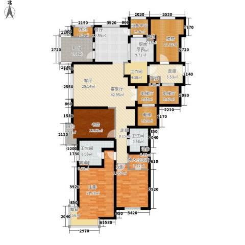 大华清水湾花园三期华府樟园3室1厅2卫1厨180.00㎡户型图